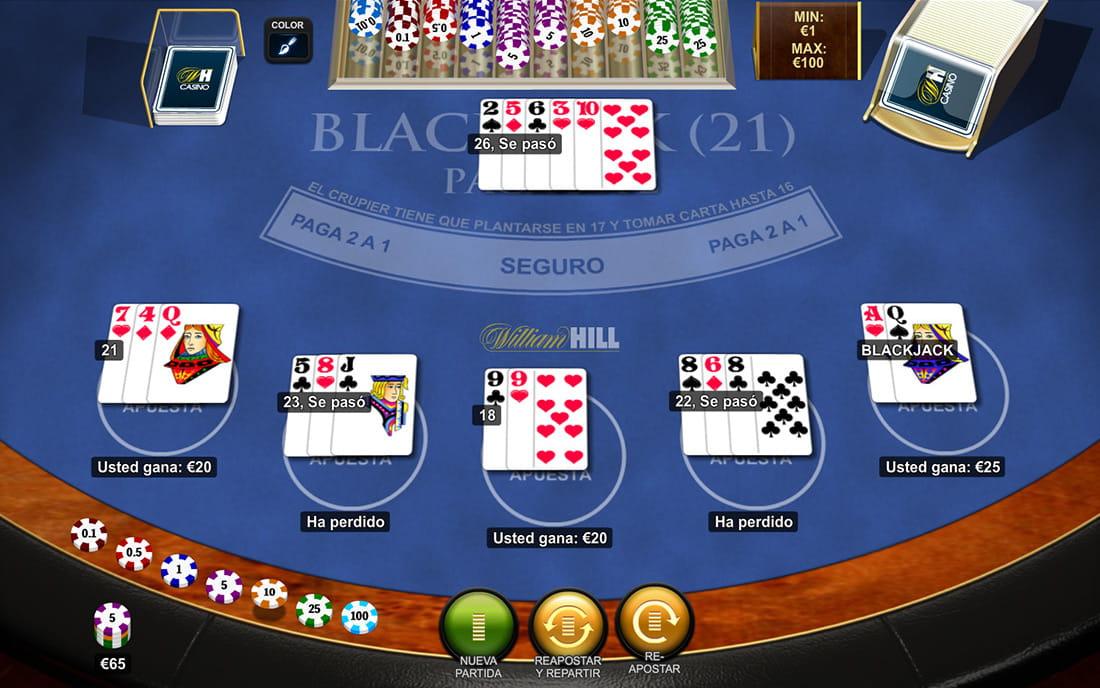 jugar black jack casino