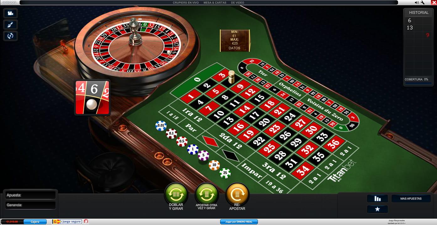 El juego de blackjack